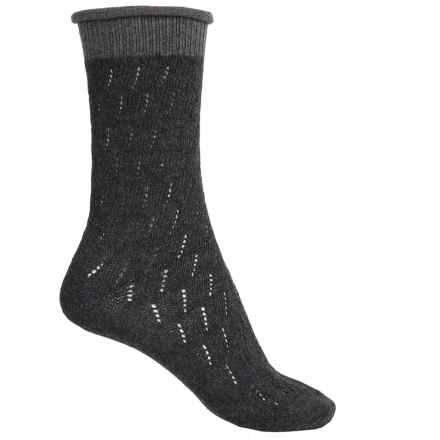 Falke Soft Ajour Socks - Crew (For Women) in Anthra - Closeouts