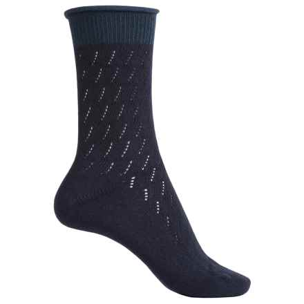 Falke Soft Ajour Socks - Crew (For Women) in Navy - Closeouts
