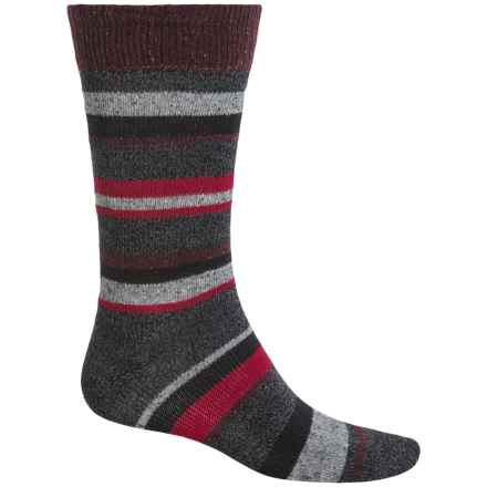 Falke Stripe Boot Socks - Wool Blend, Mid Calf (For Men) in Black - Closeouts