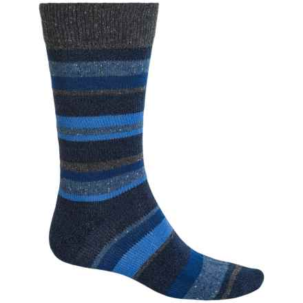 Falke Stripe Boot Socks - Wool Blend, Mid Calf (For Men) in Dark Navy - Closeouts