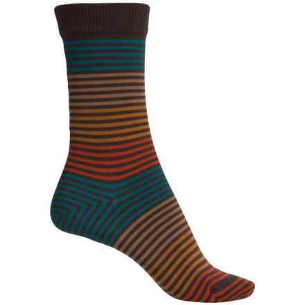 Falke Stripes Socks - Crew (For Women) in Dark Brown - Closeouts