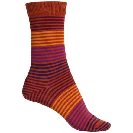 Falke Stripes Socks - Crew (For Women) in Terra - Closeouts