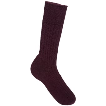 Falke Teppich Crew Socks - Merino Wool (For Men) in Barolo