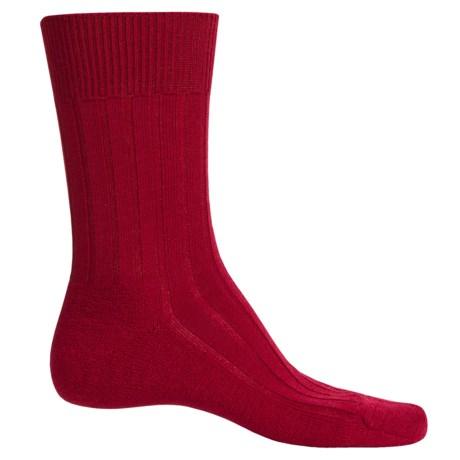 Falke Teppich Crew Socks - Merino Wool (For Men) in Berry