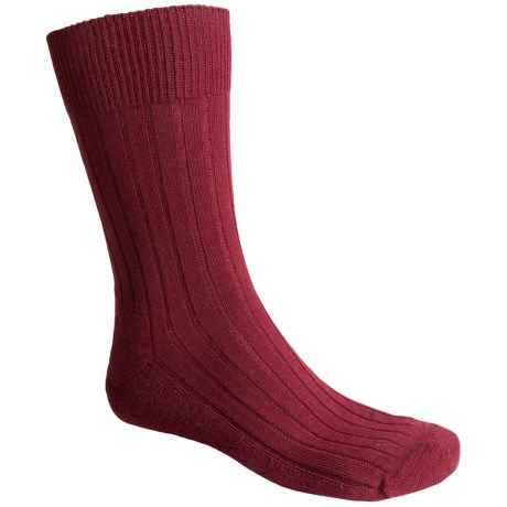 Falke Teppich Crew Socks - Merino Wool (For Men) in Cranberry