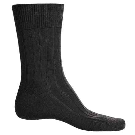 Falke Teppich Crew Socks - Merino Wool (For Men) in Dark Brown - Closeouts