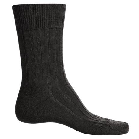 Falke Teppich Crew Socks - Merino Wool (For Men) in Dark Brown