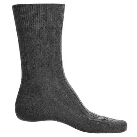 Falke Teppich Crew Socks - Merino Wool (For Men) in Dark Grey - Closeouts