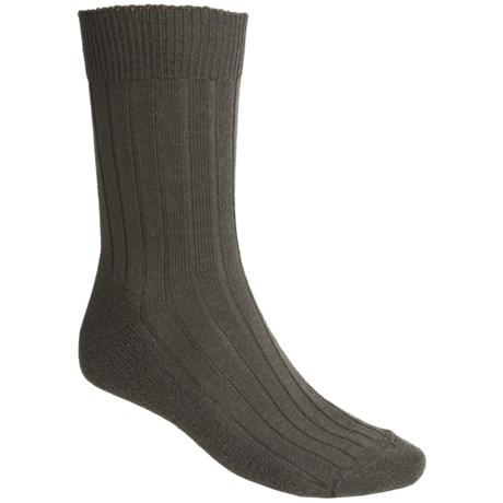 Falke Teppich Crew Socks - Merino Wool (For Men) in Forest