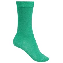 Falke Velveteen Solid Socks - 3/4 Crew (For Women) in Emerald Melagne - Closeouts