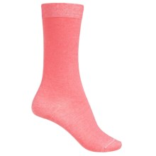 Falke Velveteen Solid Socks - 3/4 Crew (For Women) in Hibiscus Melagne - Closeouts