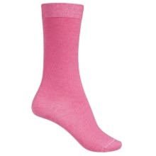 Falke Velveteen Solid Socks - 3/4 Crew (For Women) in Pure Pink Melagne - Closeouts