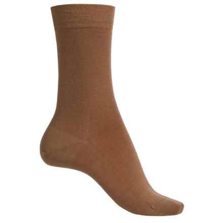 Falke Wool Blend Socks - Crew (For Women) in Curry - Closeouts