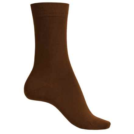 Falke Wool Blend Socks - Crew (For Women) in Hazelnut - Closeouts