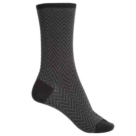 Falke Zick Zack Socks - Crew (For Women) in Black - Closeouts