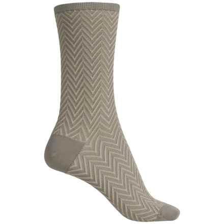 Falke Zick Zack Socks - Crew (For Women) in Grey - Closeouts