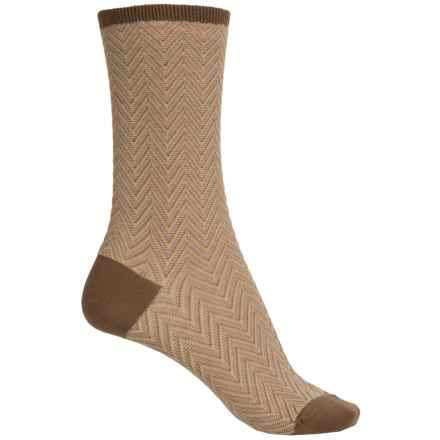 Falke Zick Zack Socks - Crew (For Women) in Nutmeg - Closeouts