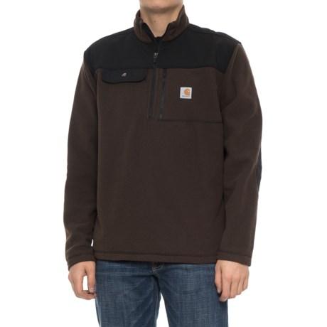 Fallon Zip Neck Fleece Pullover Sweater (For Men)