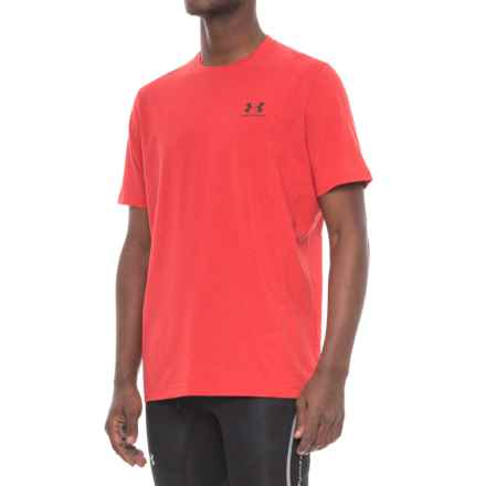 Famous Brand Left Lockup Shirt - Cotton Blend, Short Sleeve (For Men) in Red - Closeouts