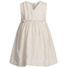 Fancy V-Neck Dress - Sleeveless (For Infant Girls) in White - Closeouts