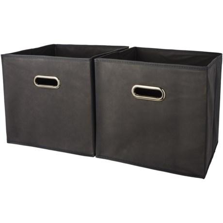 "Farberware Collapsible Storage Bins - 12"", Set of 2 in Black"