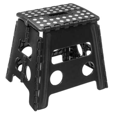 "Farberware Folding Step Stool - 13"" in Black - Closeouts"