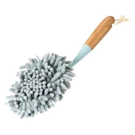 Farberware Handheld Chenille Duster in Natural/Blue - Closeouts