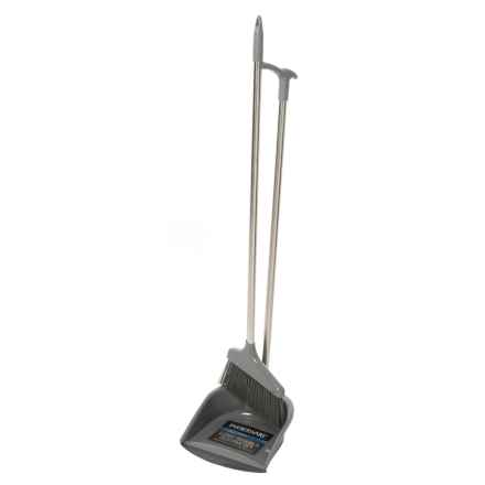 Farberware Stainless Steel Broom and Dust Pan Lobby Set in Silver/Grey - Closeouts