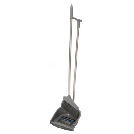 Farberware Stainless Steel Broom and Dust Pan Lobby Set in Silver/Grey