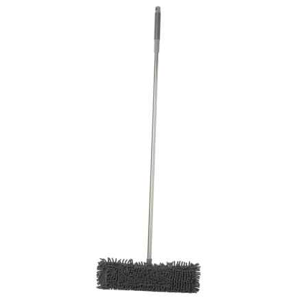 Farberware Stainless Steel Chenille Flat Mop in Silver/Dark Grey - Closeouts