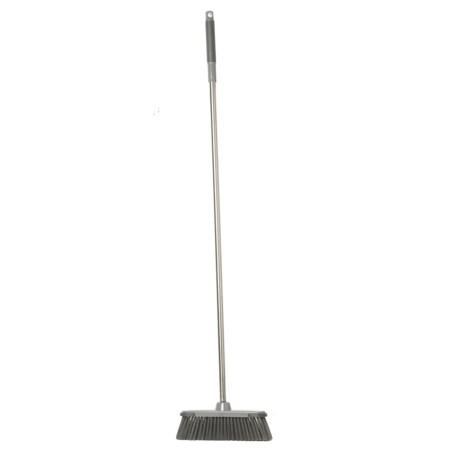 Farberware Stainless Steel Kitchen Broom in Silver/Grey