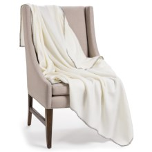 """Faribault Woolen Mill Co. Acrylic Throw Blanket - 61x58"""" in White - Closeouts"""