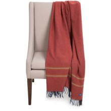 Faribault Woolen Mill Co. Alden Pinstripe Wool Throw Blanket in Terracotta - Closeouts