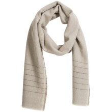 Faribault Woolen Mill Co. Box Weave Stripe Scarf - Wool (For Men and Women) in Grey/Silver - Closeouts
