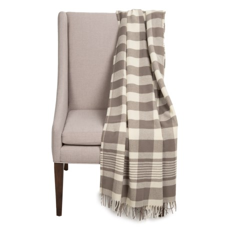 Faribault Woolen Mill Co. Buffalo Plaid Wool Throw Blanket