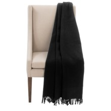 "Faribault Woolen Mill Co. Crestline Wool Throw Blanket - 50x60"" in Black - Closeouts"