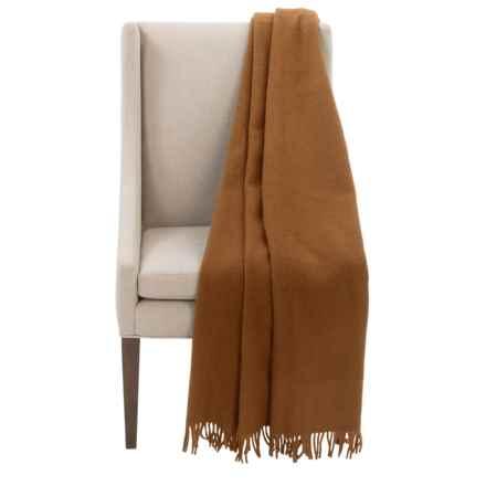 "Faribault Woolen Mill Co. Crestline Wool Throw Blanket - 50x60"" in Brandy - Closeouts"