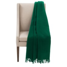 "Faribault Woolen Mill Co. Crestline Wool Throw Blanket - 50x60"" in Kelly Green - Closeouts"
