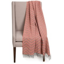 "Faribault Woolen Mill Co. Crosby Zigzag Wool Throw Blanket - 50x72"" in Terracotta - Closeouts"
