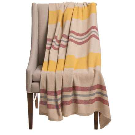 Faribault Woolen Mill Co. Isles Eco-Woven Cotton Throw Blanket in Mango - Closeouts