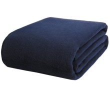 Faribault Woolen Mill Co. Pure and Simple Blanket - Virgin Wool, Queen in Navy - Closeouts