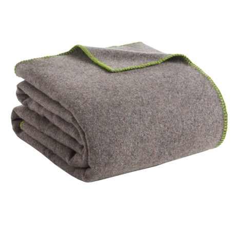 Faribault Woolen Mill Co. Recycled Wool Blanket Queen, Whipstich Edge