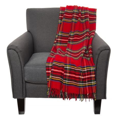 Faribault Woolen Mill Co Red Stewart Plaid Wool Throw Blanket Adorable Cheap Plaid Throw Blanket