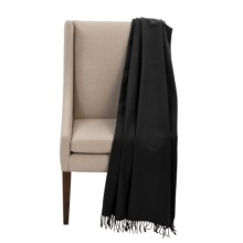 "Faribault Woolen Mill Co. Royal Carefree Hotel Throw Blanket - Wool, 54x72"" in Black - Closeouts"