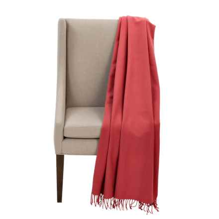 "Faribault Woolen Mill Co. Royal Carefree Hotel Throw Blanket - Wool, 54x72"" in Poppy - Closeouts"