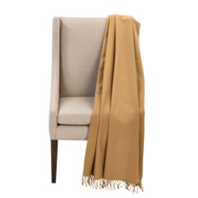 """Faribault Woolen Mill Co. Royal Carefree Hotel Throw Blanket - Wool, 54x72"""" in Tan - Closeouts"""