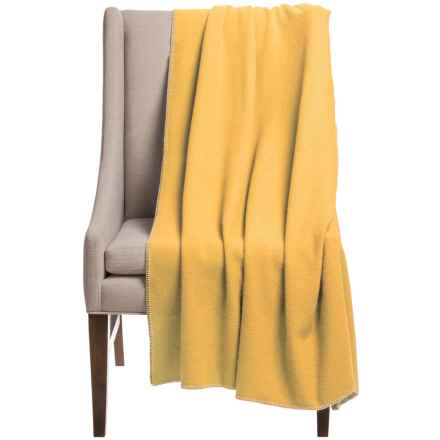 "Faribault Woolen Mill Co. Royal Carefree Throw Blanket - 55x60"", Virgin Wool in Sunrise - Closeouts"