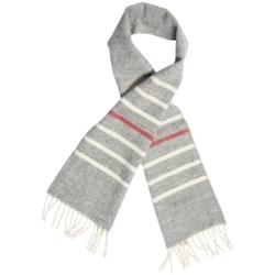 """Faribault Woolen Mill Co. Thin Stripe Scarf - Merino Wool, 60"""" (For Men and Women) in Grey Multi"""
