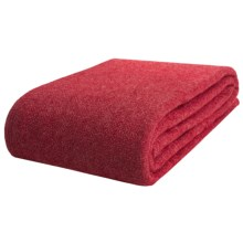 Faribault Woolen Mill Co. Wool-Ingeo Blanket - King in Berry - Closeouts