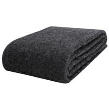 Faribault Woolen Mill Co. Wool-Ingeo Blanket - Twin in Charcoal - Closeouts